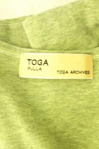 トーガプルラ TOGA PULLA  UネックTシャツ サイズM レディース 【中古】【ブランド古着バズストア】