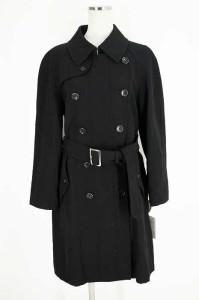 robe de chambre COMME des GARCONS(ローブドシャンブルコムデギャルソン) デザイントレンチコート L ブラック レディース【バズストア