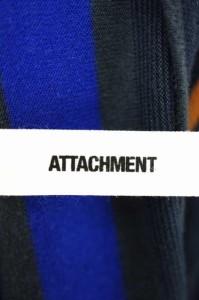 ATTACHMENT(アタッチメント) 13AW ボーダー天竺起毛ボートネックカットソー サイズ[表記無] メンズ ボートネックTシャツ 【中古】【ブラ