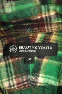 BEAUTY & YOUTH UNITED ARROWS(ビューティーアンドユースユナイテッドアローズ) チェック柄 サイズ[M] メンズ ネルシャツ 【中古】【ブラ