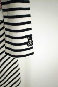 Psycho Bunny by ROBERT GODLEY(サイコバニー) Aラインボーダーワンピース サイズ[1] レディース ワンピース 【中古】【ブランド古着バズ