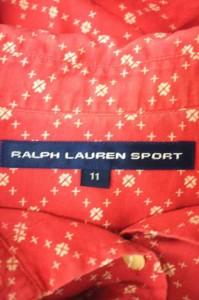 ラルフローレンスポーツ RALPH LAUREN SPORT シャツ サイズ11 レディース 【中古】【ブランド古着バズストア】