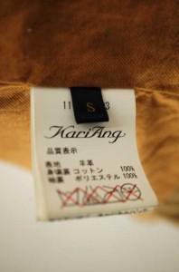 カリアング KariAng レザージャケット サイズS レディース 【中古】【ブランド古着バズストア】