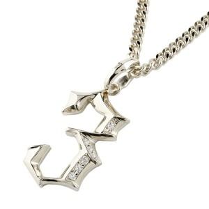 ネックレス 喜平用 メンズ キヘイ メンズ ダイヤモンド ペンダント 数字 3 ナンバー シルバー925 地金 sv 男性  コントラッド