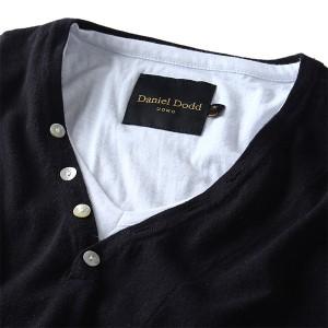 【大きいサイズ】【メンズ】DANIEL DODD フェイクアンサンブルヘンリーネックセーター azk-1505239