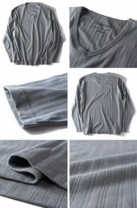 【大きいサイズ】【メンズ】DANIEL DODD 針抜きVネックロングTシャツ azt-160178