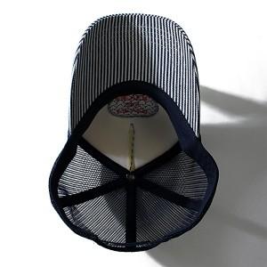 【大きいサイズ】【メンズ】AZ DEUX ヒッコリーメッシュキャップ 714-179014