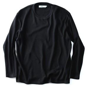 【大きいサイズ】【メンズ】DANIEL DODD サーマルクルーネックロングTシャツ【秋冬新作】azt-170459