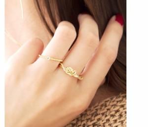 【ゆうパケットOK】リング 指輪 一粒  レディース 重ね着け シルバー ゴールド イエローゴールド 細身 華奢リング