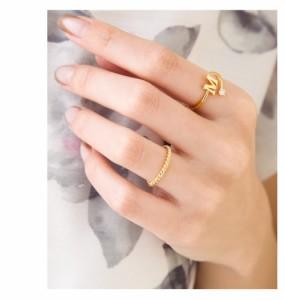 【ゆうパケットOK】リング 指輪 アクセサリー ツイストピンキーリング 3号 5号  銀 シルバー 金 ゴールド デイリー  結婚式