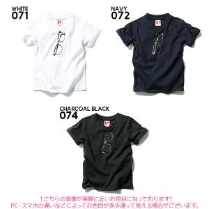 子供服 [DT 11柄から選べる♪フェイク&メガネ&サングラスプリント半袖Tシャツ カットソー] ×送料無料 M1-4