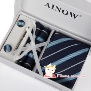 ネクタイ ビジネス 4点セット 慶事 スカーフ ストライプ 就活 卒業式 カフス 新生活 紳士用 ネクタイピン シンプル メンズ 入学式 スーツ
