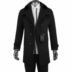 チェスターコート メルトン ステンカラーコート ラシャジャケット ロング アウター メンズ メルトン ウールトレンチコート ロングコート