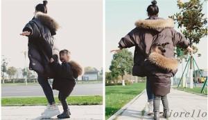 秋冬 ダウンコート 子供 ダウンコート ジュニア 120 130 110 ダウン フード付き100 キッズ用 ダウンジャケット ジャケット アウター 中綿