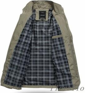ミリタリーコート メンズ コート アウター スリムフィット 冬物 ビジネス お兄系 2WAY シンプル コート ジャケット ミリタリー きれい目