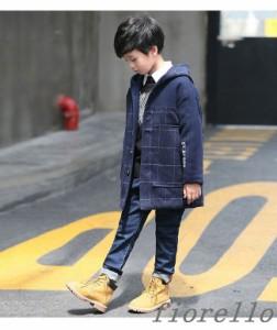 キッズファッション 子供服 男の子 可愛い 冬服 コート 個性 帽子付き 旬のチェック柄 真冬にも頼れる 小学生 メルトン 防寒 厚手 格好い