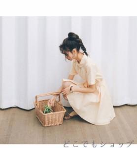 ワンピース シャツワンピース レディース 折りえり 2017 韓国風 ガールズ チェック柄 半袖 キレイめ 夏 体型カバー 女の子 オシャレ デザ
