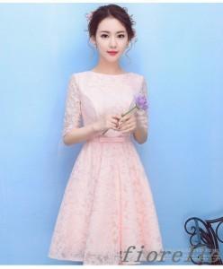 レディースファッション ドレス ワンピース クラシック 結婚式 パーティー ショート丈 レース フォーマル ウエディングドレス