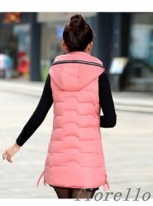 レディース服 韓国ファッション ベスト エレガント 綿服 アウター防寒裏起毛 シンプル お出かけ 大きいサイズ ロングコート 秋冬物