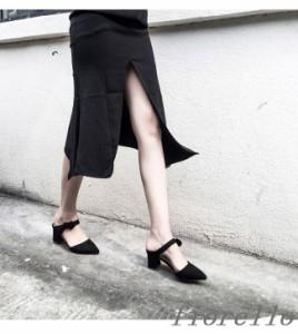 女性靴 レディース パンプス 秋色 プレーン 通勤 フラットヒール スエード ポインテッドトゥ 脚長効果 女度 太ヒール ファッション お洒