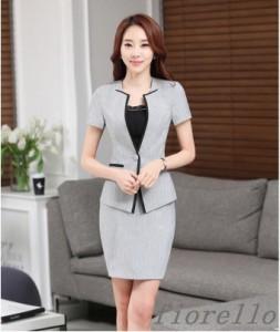 おしゃれ♪パンツスーツ スカートスーツ リクルートシャツ 大きいサイズ 発表会 オフィス 事務服 ビジネス フォーマル 通勤 女性 2点セッ