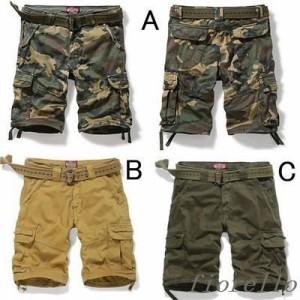 新品 メンズカーゴパンツ ショートパンツ 短パンツ 迷彩ショーツ ミリタリーショーツ 5分丈パンツ5分丈 半パンツ カーゴショーツ ショー