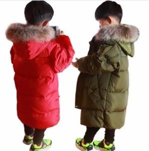 ダウンジャケット 子供 ダウンコート キッズ ジュニア ロング 男の子 冬 女の子 防寒 フード付き