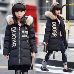 ダウンコート 女の子 ダウンジャケット 冬 フード付き 子供 キッズ ロング 防寒 ジュニア