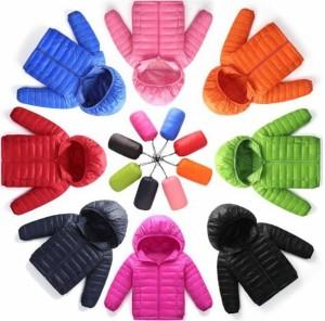 ダウンジャケット 子供 ダウンコート ジュニア ショート 男の子 女の子 冬 フード付き キッズ 防寒