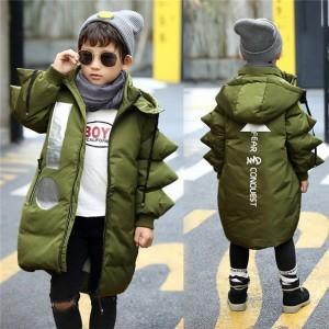 ダウンジャケット 子供 ダウンコート 男の子 ジュニア 防寒 フード付き キッズ 冬 女の子 ロング