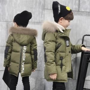 ダウンジャケット 子供 ダウンコート 女の子 フード付き ロング 冬 防寒 男の子 ジュニア キッズ