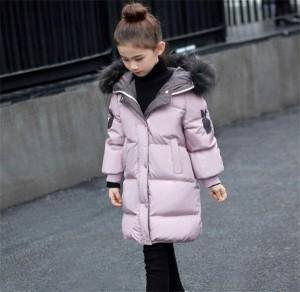 ダウンジャケット 子供 ダウンコート キッズ 防寒 ジュニア 冬 男の子 フード付き 女の子 ロング