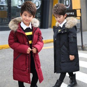 ダウンジャケット 子供 ダウンコート 男の子 キッズ 防寒 女の子 ジュニア フード付き 冬 ロング
