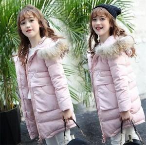 ダウンコート 女の子 ダウンジャケット フード付き 冬 ロング キッズ 防寒 ジュニア 子供