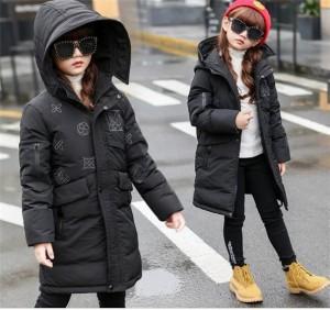 ダウンコート 女の子 ダウンジャケット ジュニア 男の子 子供 冬 フード付き ロング キッズ 防寒