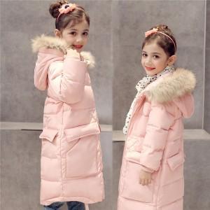 ダウンコート 女の子 ダウンジャケット 子供 キッズ フード付き 冬 防寒 ジュニア ロング