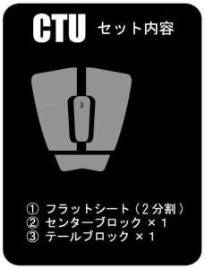 CTU クリアデッキ テールデッキパッド(4分割入り)