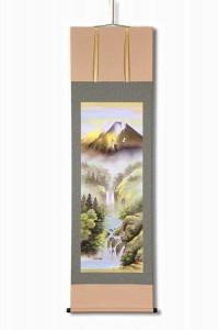 宇田川彩悠 掛軸(尺五) 「飛翔金富士山水」 1254440
