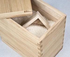 桐の逸品シリーズ「桐子モダン」 米びつ 20kg用 12105