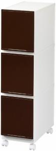 コレクトケース3段 スリム ホワイト・31430 家具/収納 収納用品