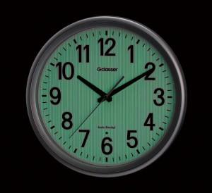 キングジム 電波掛時計 ダクスト GDK-003 暗闇では秒針が停止