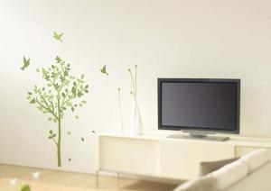 ウォールステッカー 木 植物 北欧 ナチュラル おしゃれな壁紙シール