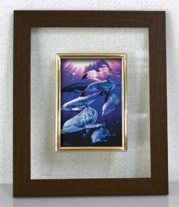 ラッセン 透明フレーム ブラウン ファミリー 30210 シンプルでさりげない雰囲気の中にもアート感漂う一品
