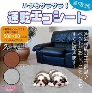 ペット用品 いつもサラサラ! 速乾エコシート (廊下敷きシート) 500×80cm