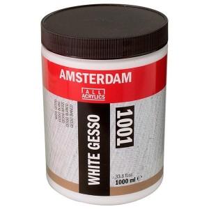 AMSTERDAM アムステルダム アクリリックメディウム 下地剤 ホワイトジェッソ 1001 1000ml T2419-4001 403670