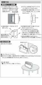 OHMオーム電機 monban(モンバン) ワイヤレスチャイム 電池式受信機・扉センサーセット OCH-M230