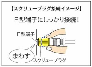 日本アンテナ 4K8K対応テレビ接続ケーブル(2C)5m (片側ストレートスクリュー×片側L型プラグ) CS2GLRS5C 2181789