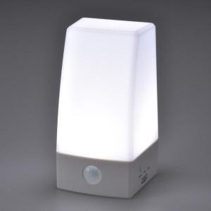 オーム電機 OHM LEDナイトライト(置型) センサーライト BLA6JS-WN