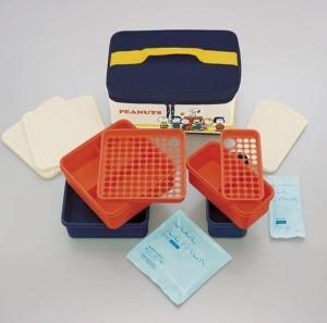 pos.351105 保冷バッグ付行楽ランチセット スヌーピー ランチタイム KCPC4 行楽シーズンに大活躍  保冷剤付きランチバッグ