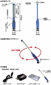 15W 充電式ウルトラスリムLEDライト ブルー FCJ5748B